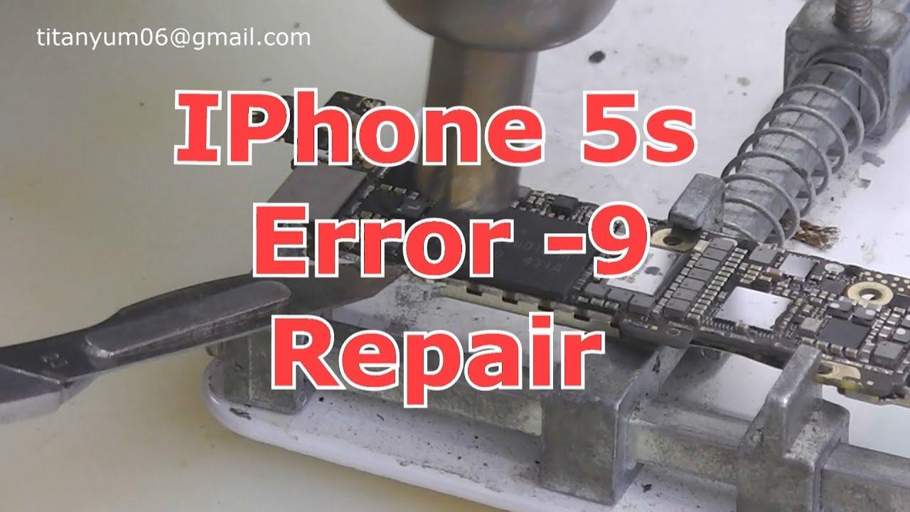 iPhone 5s Error -9 Repair