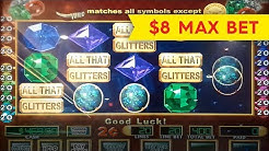 All That Glitters Slot - INCREDIBLE Live Play & Bonus - $8 Max Bet!