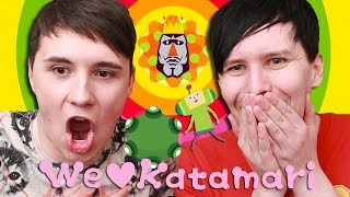 GIANT STICKY BALLS - Dan and Phil Play: We Love Katamari!