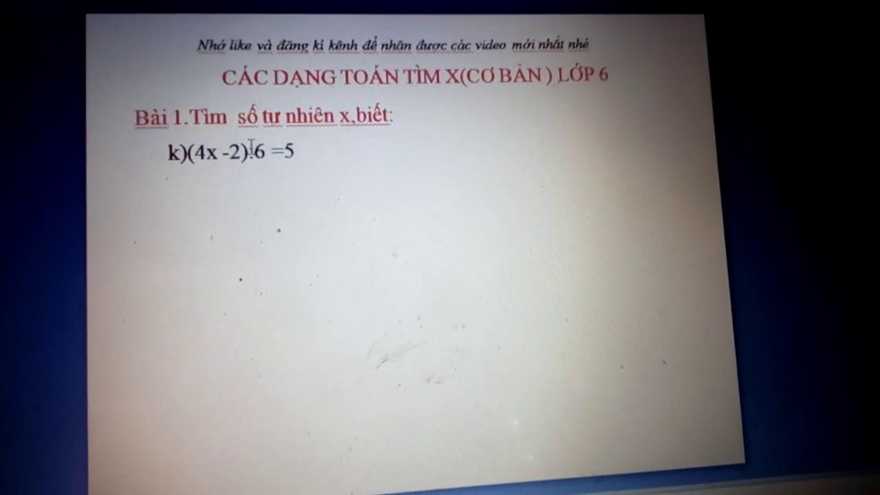 hướng dẫn học sinh giải các bài toán dạng tìm x bài 1 phần K