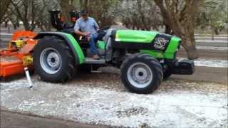 Deutz-Fahr 420 TB Orchard Tractor with Northwest Tiller