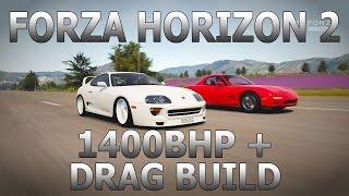 forza horizon 2   1400bhp toyota supra drag build
