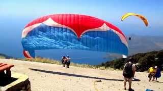 Babadağ Fethiye Ölüdeniz Yamaç Paraşütü (Paragliding) 1969m (Atlama anı)