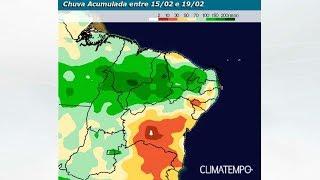 Fortes áreas de instabilidade se espalham pelo Nordeste