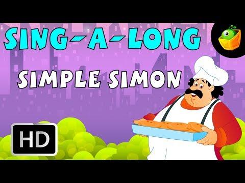 Karaoke: Simple Simon - Songs With Lyrics - Cartoon/Animated Rhymes For Kids