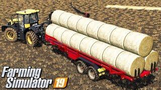 Zwożenie bel słomy - Farming Simulator 19 | #41