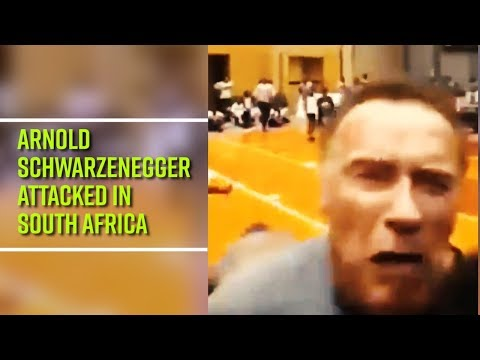 Arnold Schwarzenegger attacked in South Africa — Check out the dropkick video here