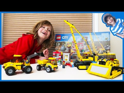 Construction Truck Videos | Lego Time Lapse Build City Construction Site