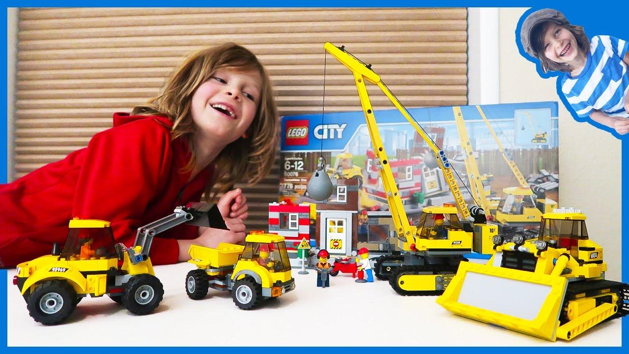 Construction Truck Videos Lego Time Lapse Build City Construction