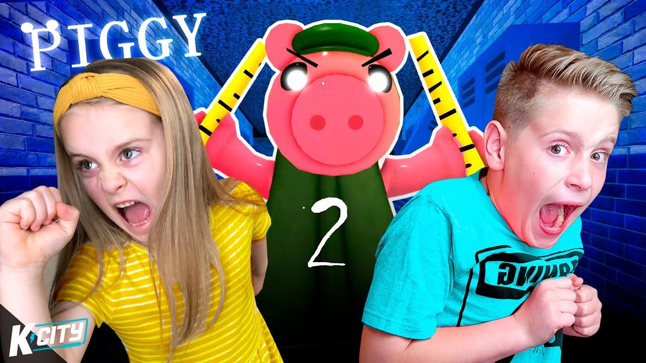 ROBLOX Piggy @ SCHOOL!! (PIGGY Part 2!) K-City Gaming