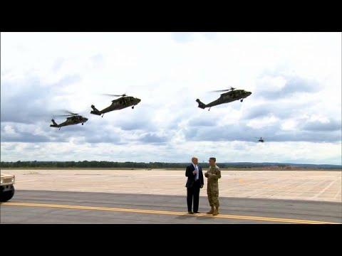 يورو نيوز:شاهد: ترامب يحضر تدريبات جيشه العسكرية