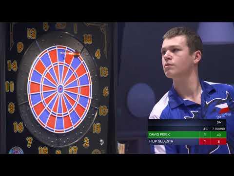 Semifinale – David Písek vs. Filip Šebesta   FINAL FOUR DARTS 2018