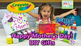 Crayola DIY Gifts Kids Can Make for Mother's Day & Birthdays Using Finger Paint and Play-Doh!