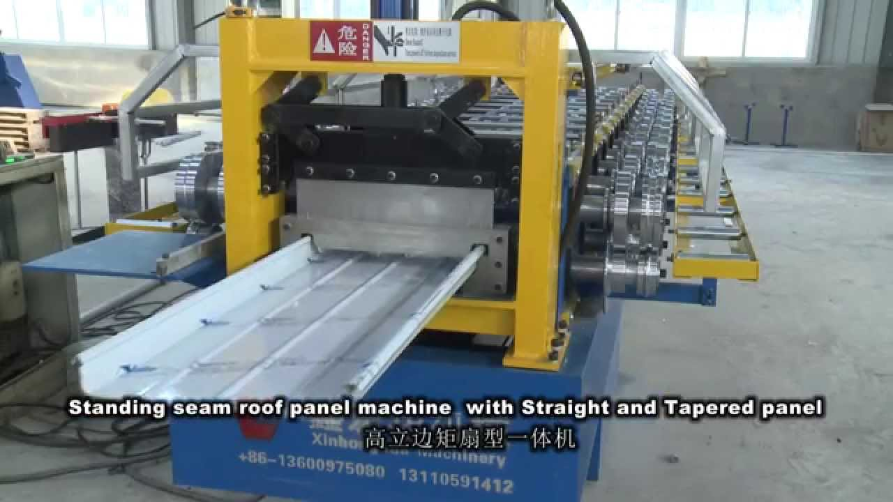 Standing Seam Roofing Roll Forming Machine Youtube