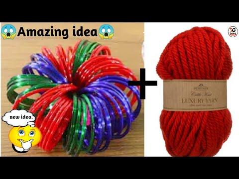 DIY old bangle reuse idea I best out of waste craft ideas.