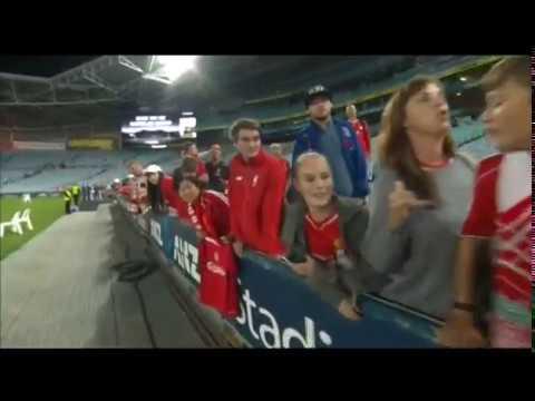 LIVERPOOL FC LEGENDS VS AUSTRALIA LEGENDS INTERVIEW AFTER MATCH