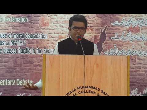 debate compitition in Khawaja Muhammad Safdar Medical College