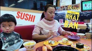 🇯🇵Trải nghiệm ăn SUSHI băng chuyền Nhật Bản - Cuộc sống ở Nhật#58