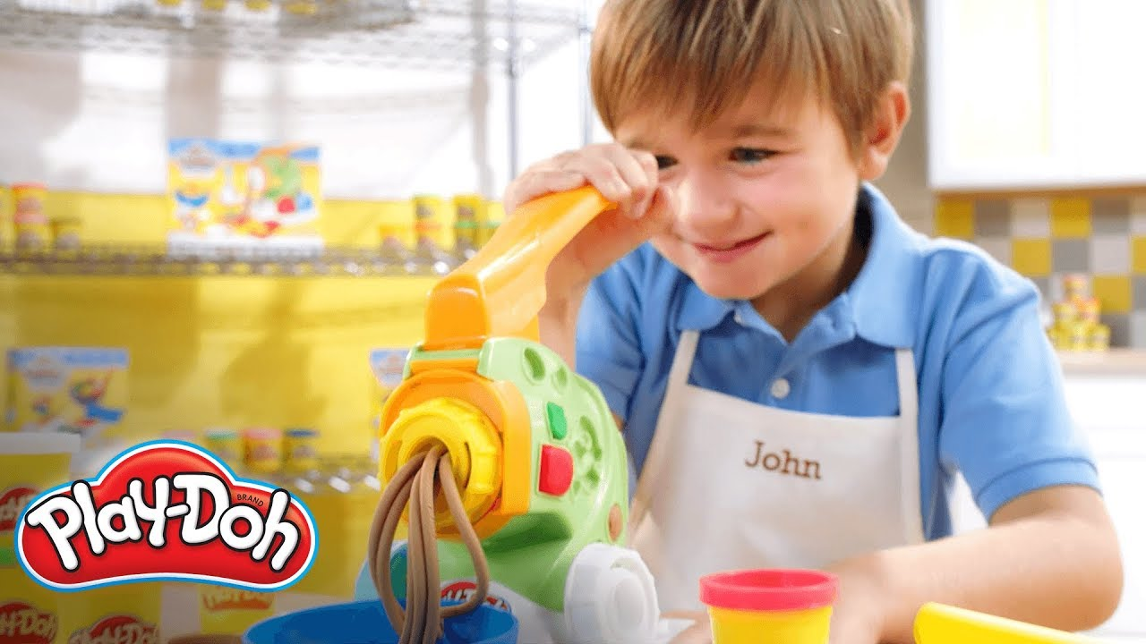 Play doh espa a cocina divertida pastaman a y crear y servir de play doh kitchen youtube - Cocina play doh ...