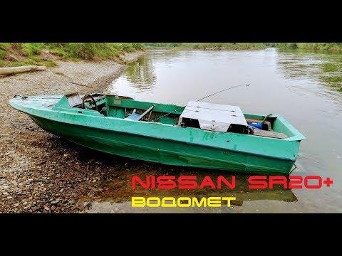 "NISSAN SR20DE + водомет на лодке ""Крым"" #3   car motor on boat"