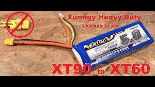 5000mAh 3S 60C - Turnigy Heavy Duty - XT90 to XT60