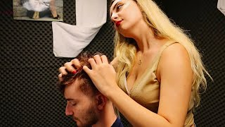 [ASMR BARBER] HEAD & EAR TOOL MASSAGE 🦋 ANGELIC TOUCH FROM ''ECE''