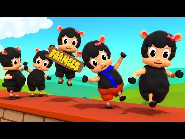 Baa Baa Black Sheep Sat On The Wall | Kindergarten Nursery Rhymes For Kids farmees