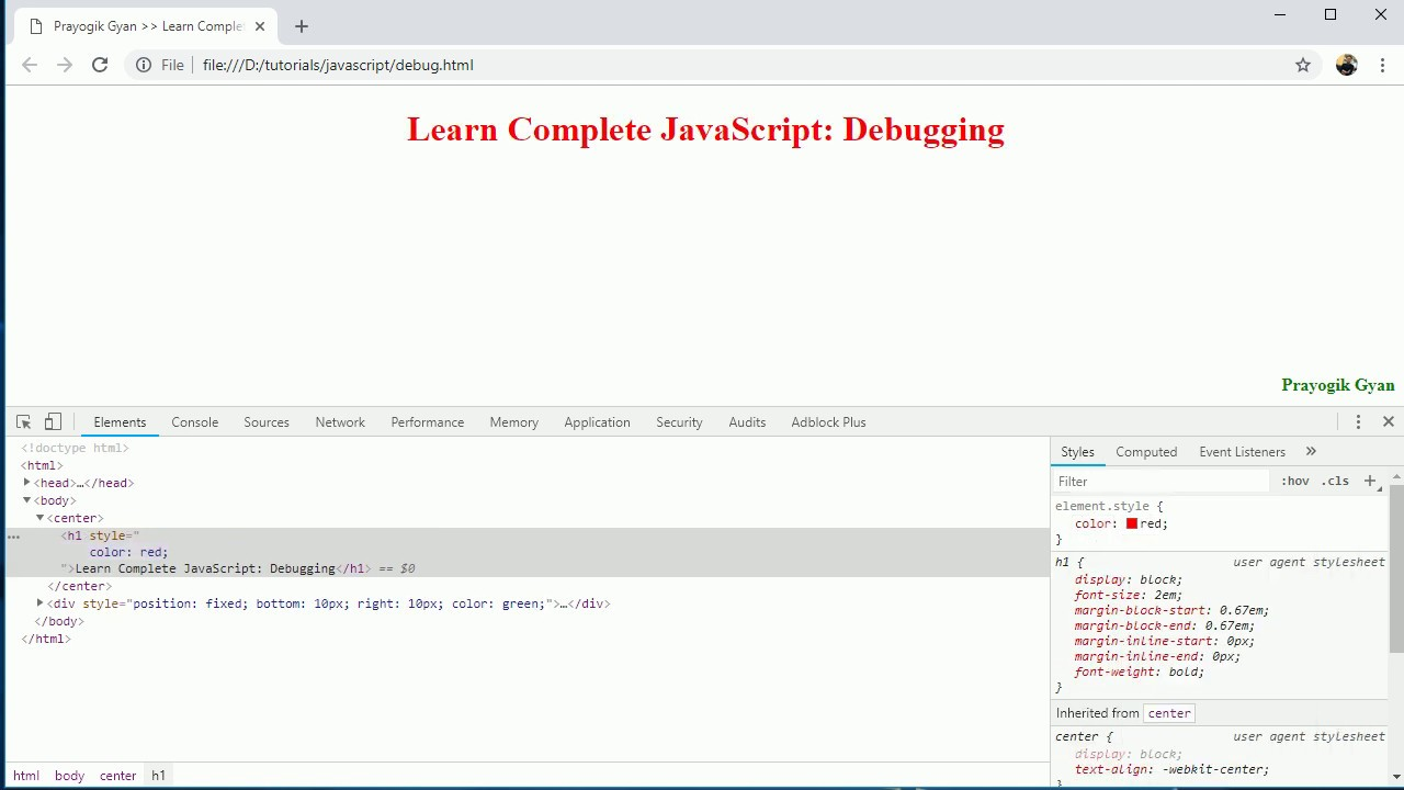 JavaScript Debugging in Hindi Part20 - learnWebCoding