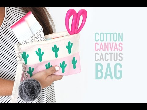 Cotton Canvas Cactus Bag