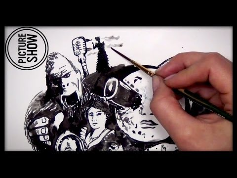 HISTORY OF FILM in a Minute - A Mary Doodles Speed Drawing