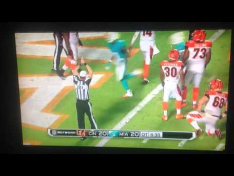 Miami dolphins defeat cincinnati bengals on ridiculous safety by Cameron wake