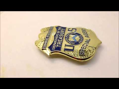 US badge special agent department of the treasury criminal investigation
