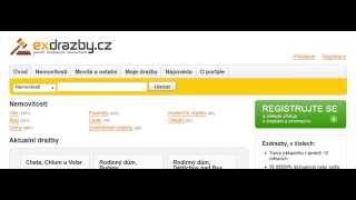 Instrukce exdrazby.cz - Jak hledat dražby