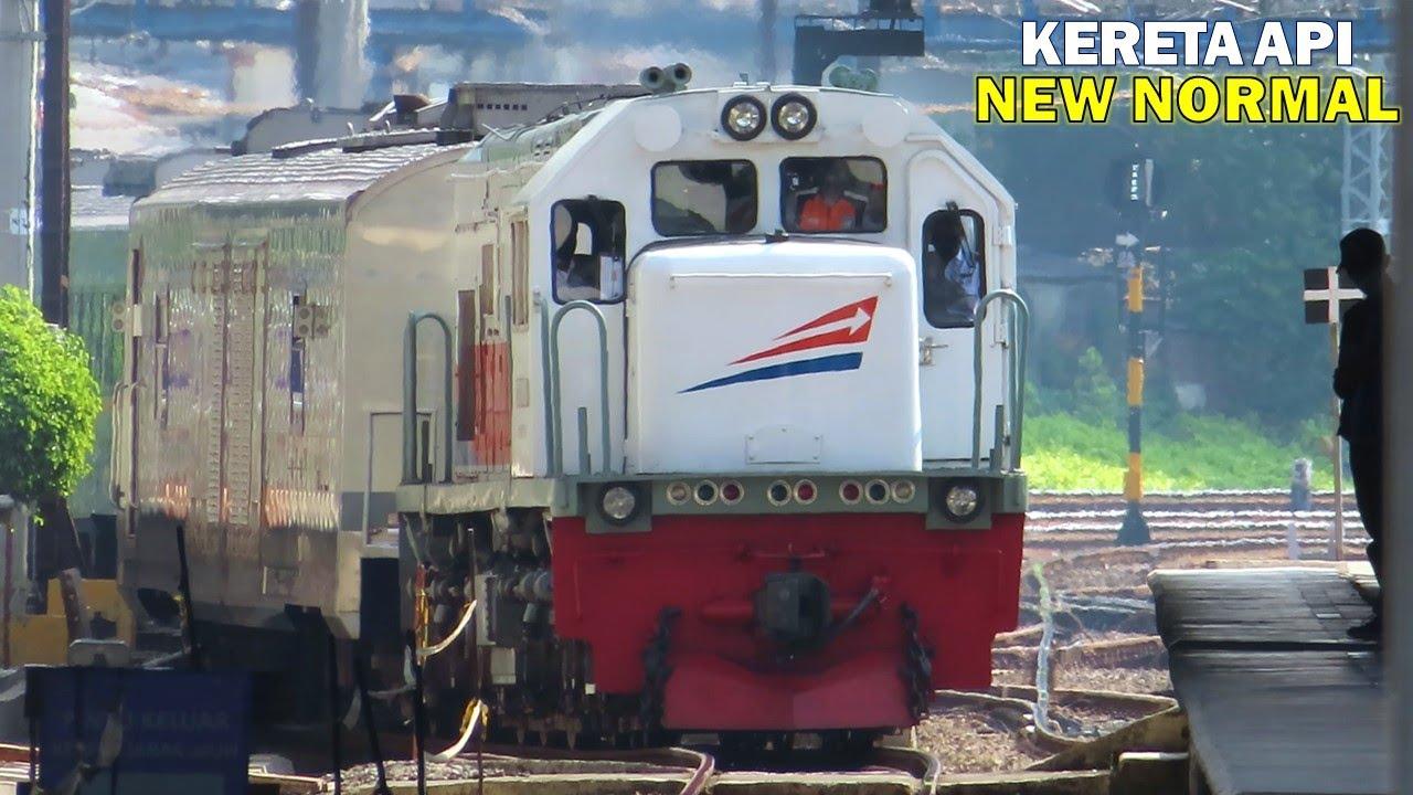 Kumpulan Kereta Api Elit di Stasiun Jatinegara NEW NORMAL : Turangga, Argo Parahyangan, Kertajaya