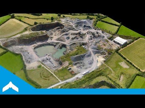 Drone Quarry Survey - Point Cloud Fly-Through