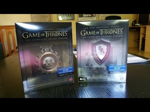 Game Of Thrones Steelbooks (Seasons 3 & 4)