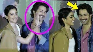 Aww ! Varun Dhawan got shy after his October costar Banita Sandhu slapped him ||