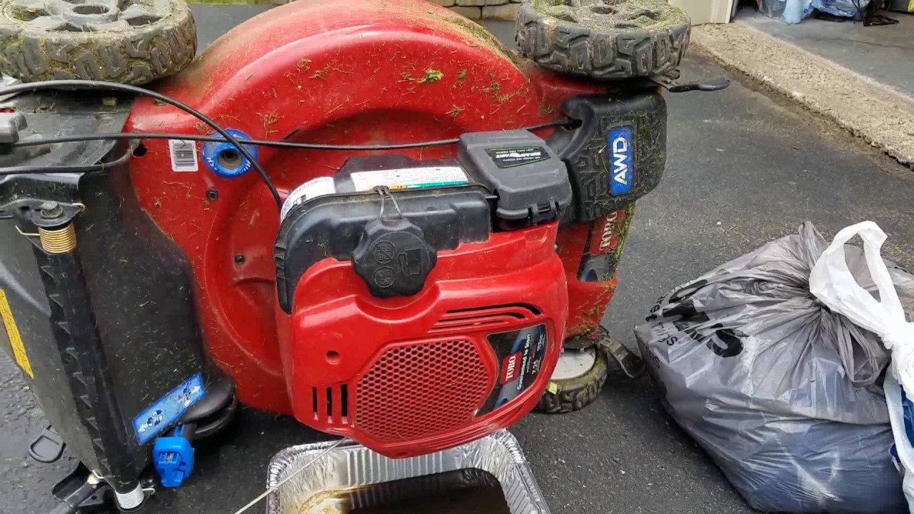 Toro Awd 22 Lawn Mower Oil Change Youtube