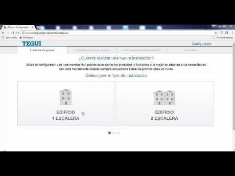 Tutorial Configurador Para Componer Una Instalación De Porteros Y Videoporteros, De Tegui
