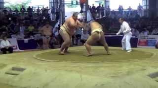 Чемпионат мира по Сумо 2015 г.Осака,Япония. (Караев RUS vs JPN)