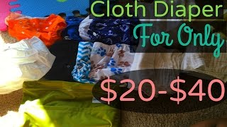 How to Start Cloth Diapering for Cheap | My  Cloth Diaper Stash | Cloth Diaper Haul