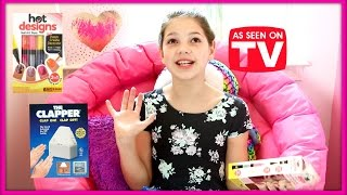 As Seen On TV - Does The Clapper really work? and Hot Designs Nail Art! Annie & Hope best friends