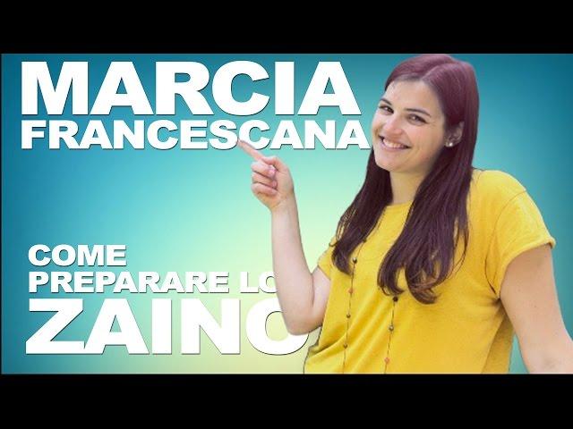 Marcia Francescana - tutorial zaino
