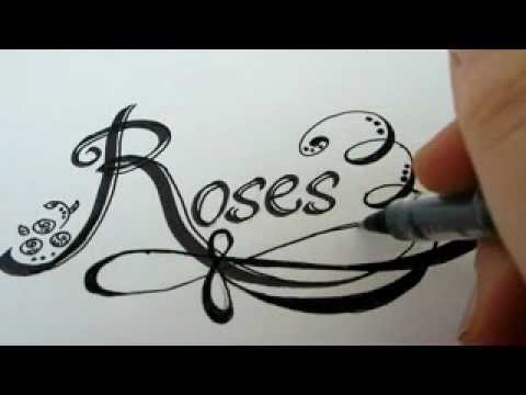 how to draw rose letters with roses how to draw roses fancy letters