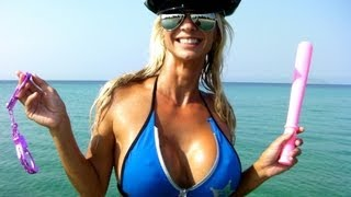 HOT POLICE WOMAN OFFICER on the Beach!
