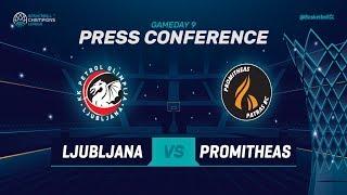 Petrol Olimpija v Promitheas Patras - Press Conference - Basketball Champions League 2018-19
