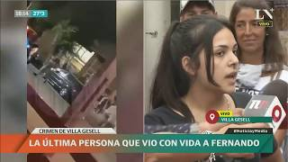Testimonio clave de la última persona que vio con vida a Fernando Báez Sosa