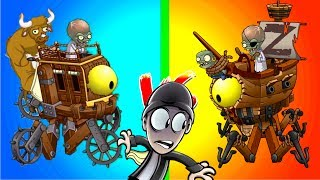 Top 5 x Plants vs Zombies 2 Dr. Zomboss - Pirate vs Wild West Zombot - How to Beat Zomboss in PVZ 2