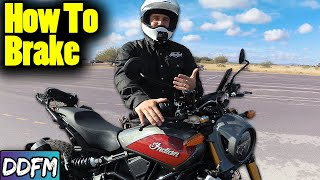 How To Stop Quickly On A Motorcycle (Motorcycle Braking Technique)