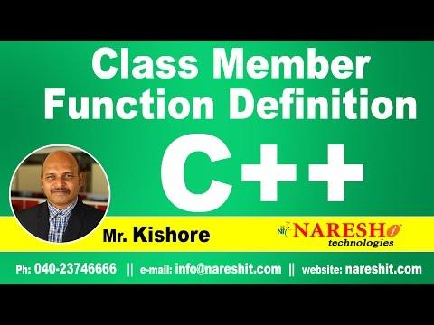 Class Member Function Definition   C ++ Tutorial   Mr. Kishore